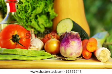 Oliveoil and vegetables