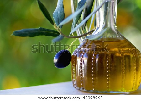 Olives and oliveoil.