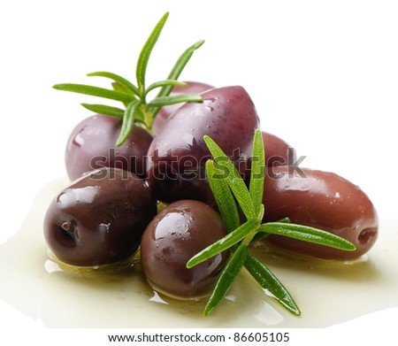 Olives kalamata  and rosemary
