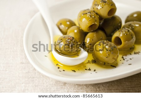 olives on a plate