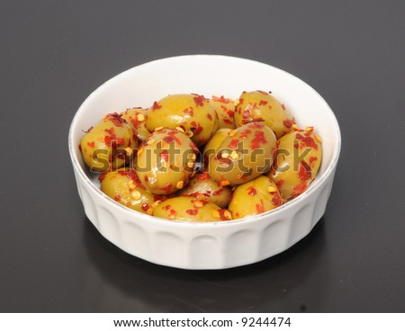 Olives With Red Peppers