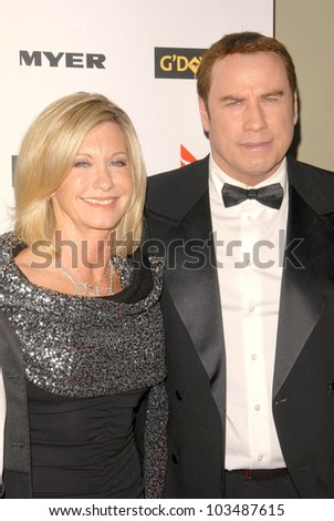 Olivia Newton-John and John Travolta at the G'Day USA Australia Week 2010 Black Tie Gala, Kodak Theater, Hollywood, CA. 01-16-10