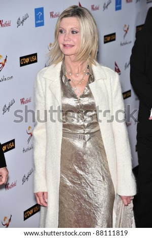 Olivia Newton-John at the G'Day USA Australia.com Black Tie Gala at the Hollywood & Highland Centre, Hollywood, CA. January 19, 2008  Los Angeles, CA Picture: Paul Smith / Featureflash
