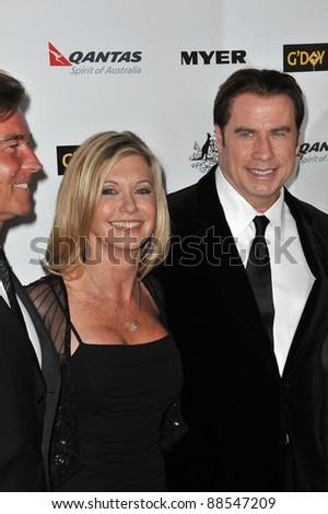 Olivia Newton-John & John Travolta at the 2011 G'Day USA Black Tie Gala at the Hollywood Palladium. January 22, 2011  Los Angeles, CA Picture: Paul Smith / Featureflash