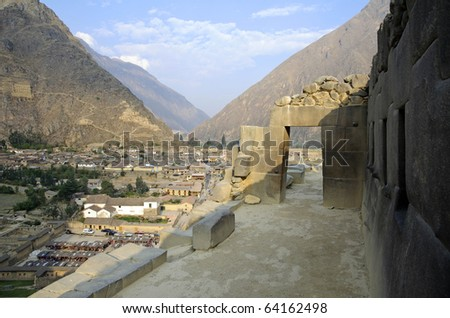 Ollantaytambo - Typical Inca Doorway, Peru