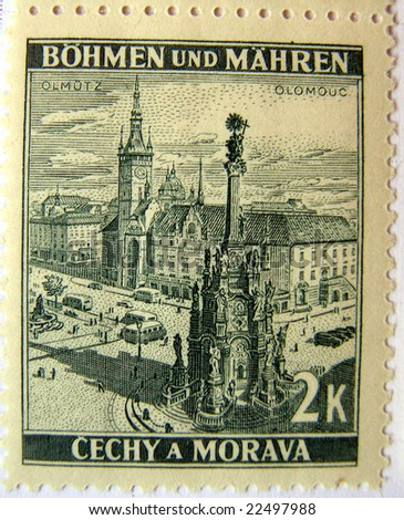 Olomouc (Czech Republic) mail postage stamps