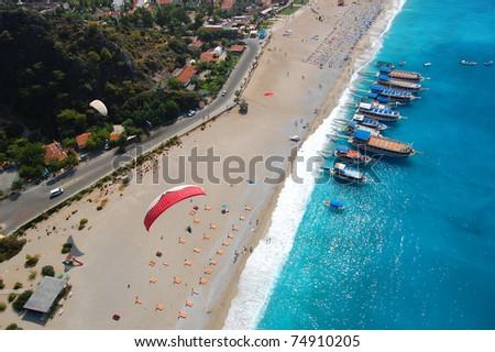 Oludeniz beach bird's eye view