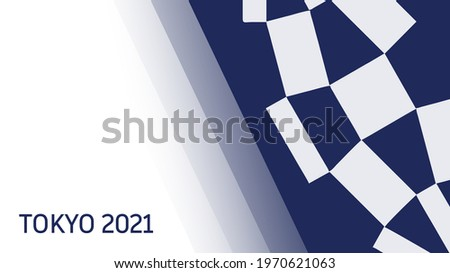 Olympic Games Tokyo 2021. Banner with abstract blue spots and text Tokyo 2021.
