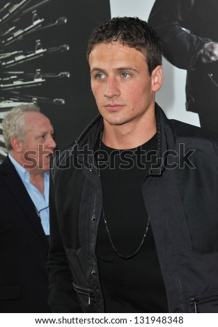 "Olympic gold-medalist Ryan Lochte at the Los Angeles premiere of ""The Expendables 2"" at Grauman's Chinese Theatre, Hollywood. August 15, 2012  Los Angeles, CA Picture: Paul Smith"