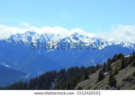 Olympic Mountains, Olympic Peninsula, National Park, Western Washington State.