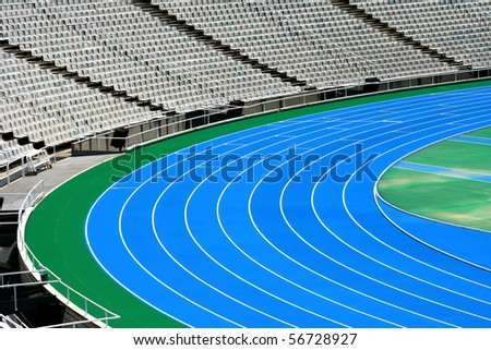 Olympic running tracks.