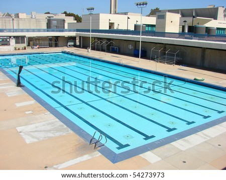 olympic size pool - stock photo