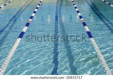 Olympic Size Pool With Lanes Stock Photo 20833717 Shutterstock