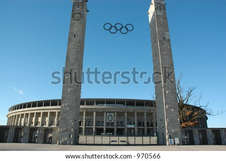 Olympic stadium (image contains some noise)
