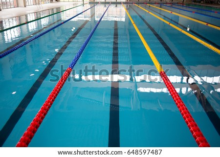 detail olympic swimming pool lane markers 648597487