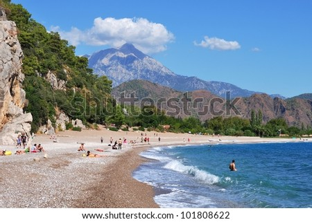 Olympos beach at Lycean Coast, Turkey