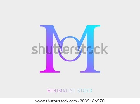 OM, MO, M, O Abstract Icon Vector Logo Alphabet Monogram Illustration Initial Template letter for Business, Real Estate Brand Identity, Company, Building. Professional Creative Minimalist Logo Design  Foto stock ©