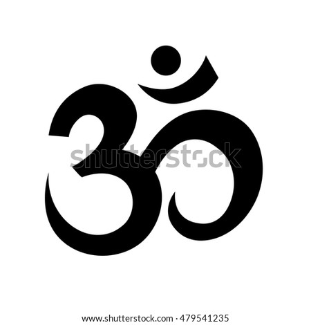 Om Or Aum Sign Isolated On White Background Symbol Of Hinduism