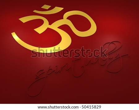 Om Symbol - Spiritually Letters - 3d Stock Photo 50415829