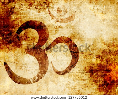 Om symbol with some smooth lines and highlights