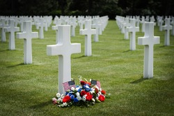 Omaha Beach American Cemetery at Colleville-Sur-Mer, Normandy, France