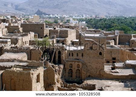 Oman. Al Hamra Yemen Village in Oman in the Middle East.