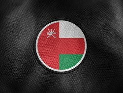 Oman flag isolated on black with clipping path. flag symbols of Oman. Oman flag frame with empty space for your text.
