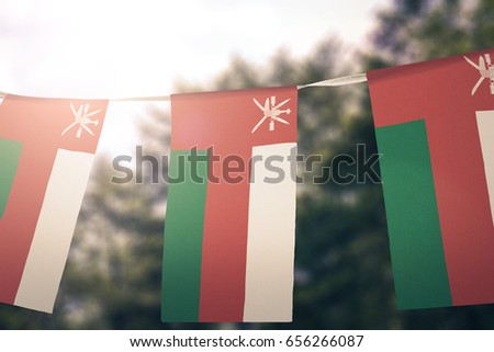 Oman flag pennants #656266087