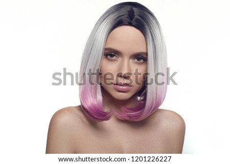 Safety Stock Ombre Bob Short Hairstyle Beautiful Hair Coloring