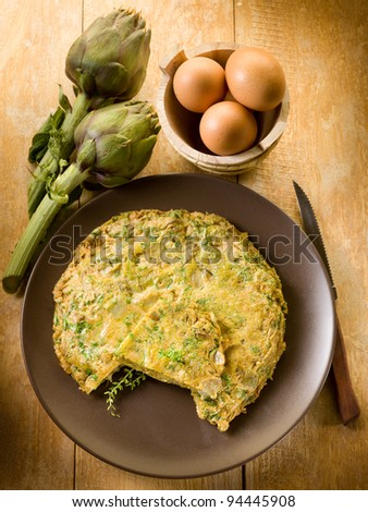 omelette with artichokes
