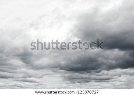 Ominous storm clouds.