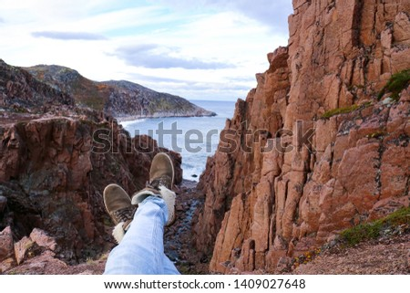 On a cliff on the Arctic Ocean, in the Arctic #1409027648
