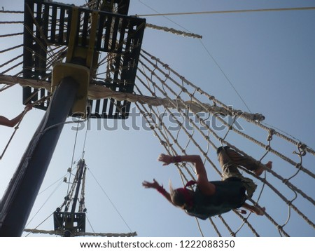 On a pirate ship/Pirates' ship/pirates on the ship #1222088350