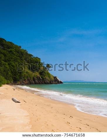 On A Sunny Beach Peaceful Wallpaper