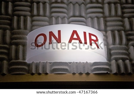 On air broadcasting sign