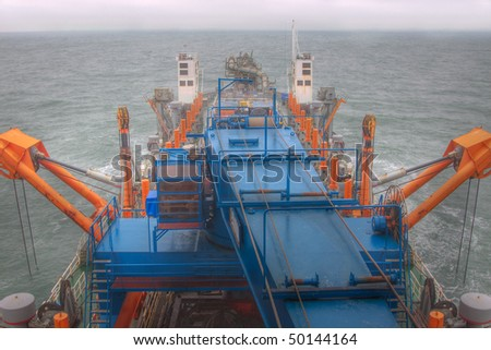 On board of a dredger