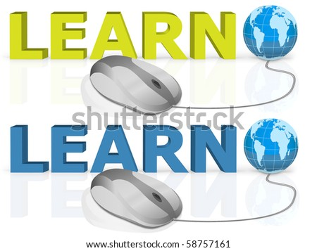 on line learning by a single mouse click