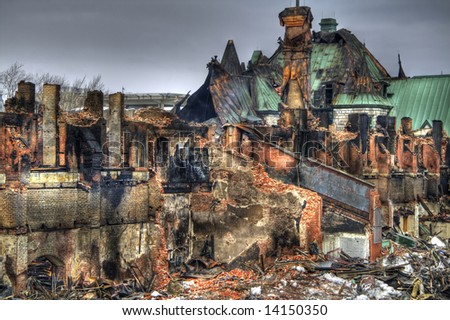 On March 4th 2008, a fire gutted the Quebec City Armoury. This is a pseudo-HDR image crated from a single RAW file.