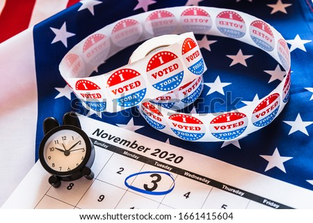 On November 3, 2020, American citizens have a duty to vote in presidential elections. Stockfoto ©