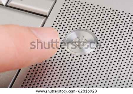 ON OFF button on laptop