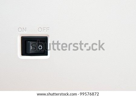 On off switch button with blank space - stock photo