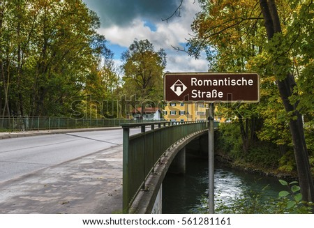 On picturesque roads of the famous Romantic Road in Germany