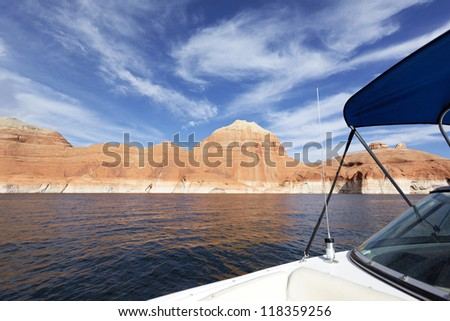 On the boat at Lake Powell, USA