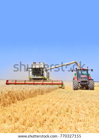 On the harvest of cereals