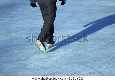 on the ice-skating rink