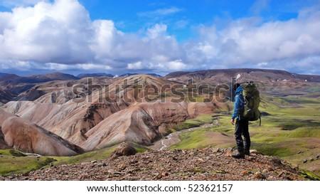 on the Laugavegur Trek in Iceland