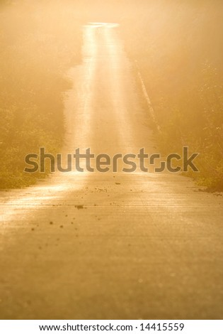 on the road, stock photo