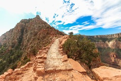 On the South Kaibab trail at the Grand Canyon