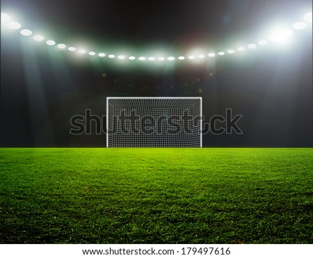 On the stadium abstract football or soccer backgrounds