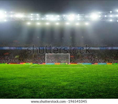 On the stadium. abstract football or soccer backgrounds  #196541045